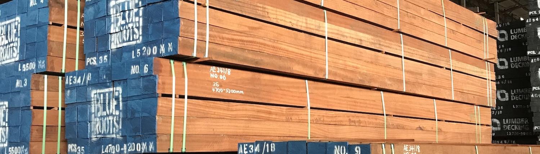 BlueRoots Lumber decking Flooring sustainable tropical rainforest timber lumber FSC