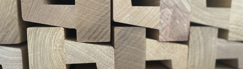 Sustainable tropical hard wood Window frame raamkozijnen Production 1500-430